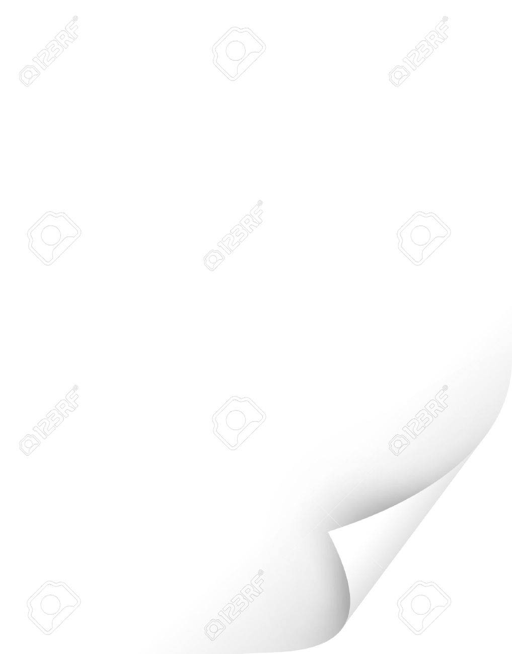 blank white paper with curl Stock Photo - 5114866