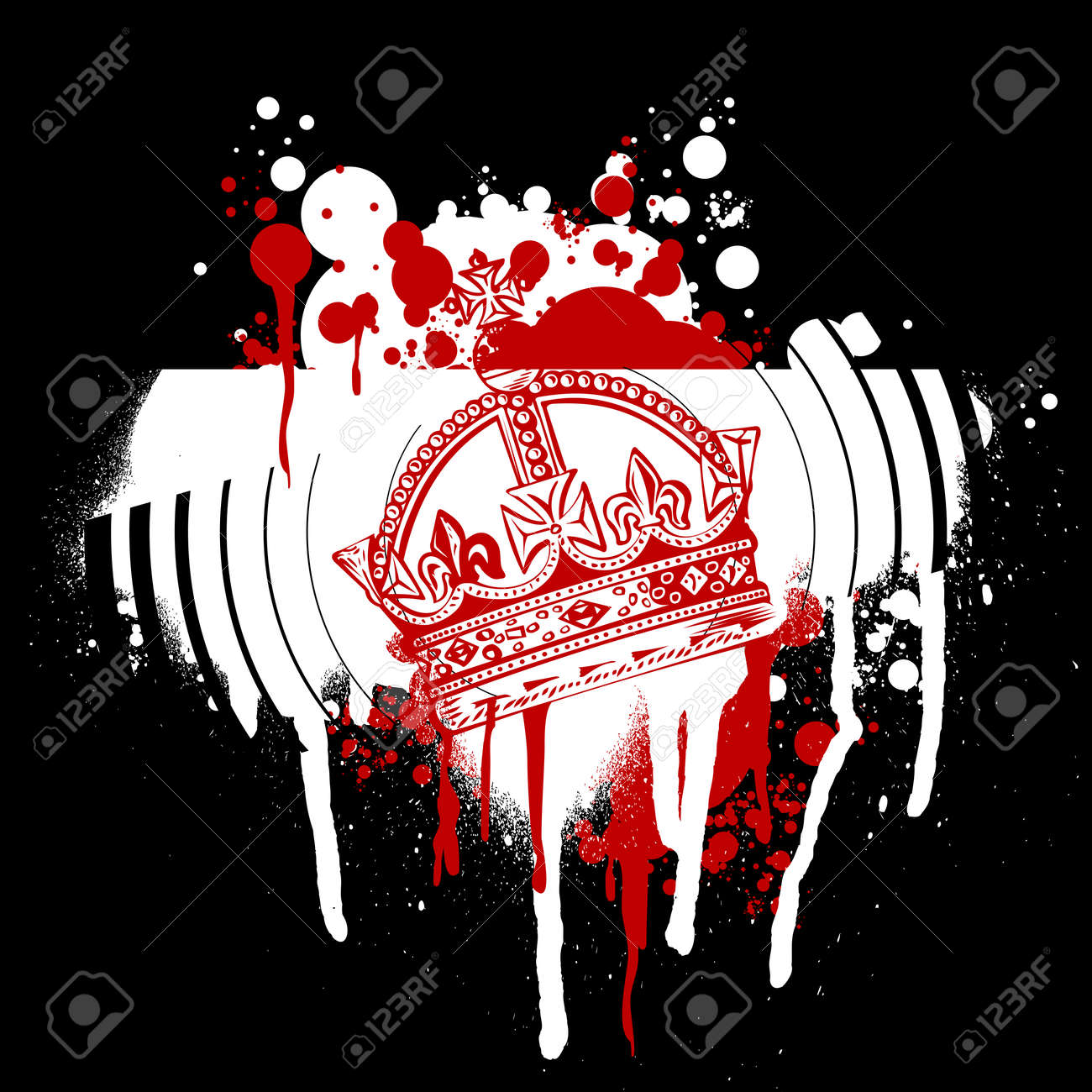 Red Crown Graffiti Stock Vector - 2240489