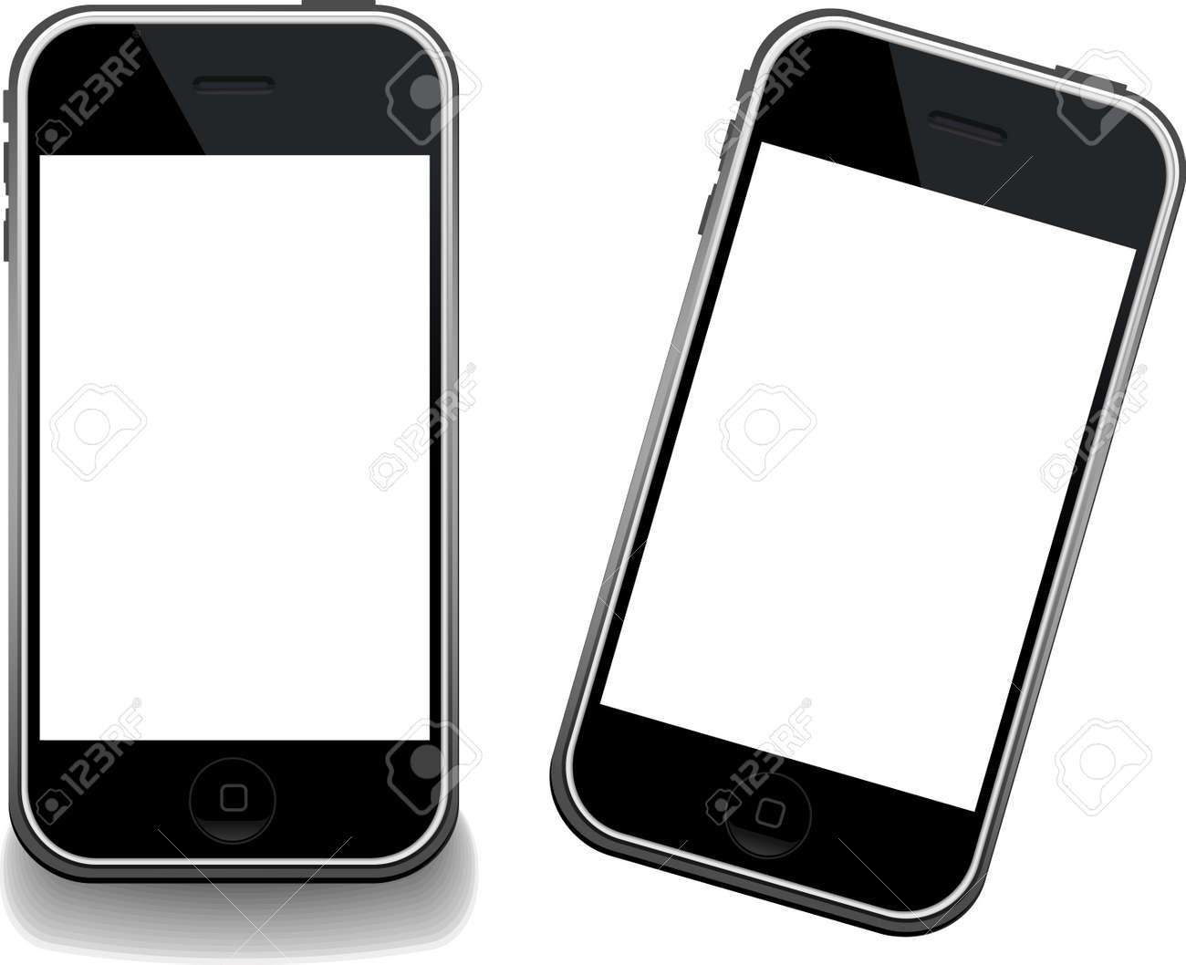 Iphone. Modern GSM Phone Templates Stock Photo - 3299343
