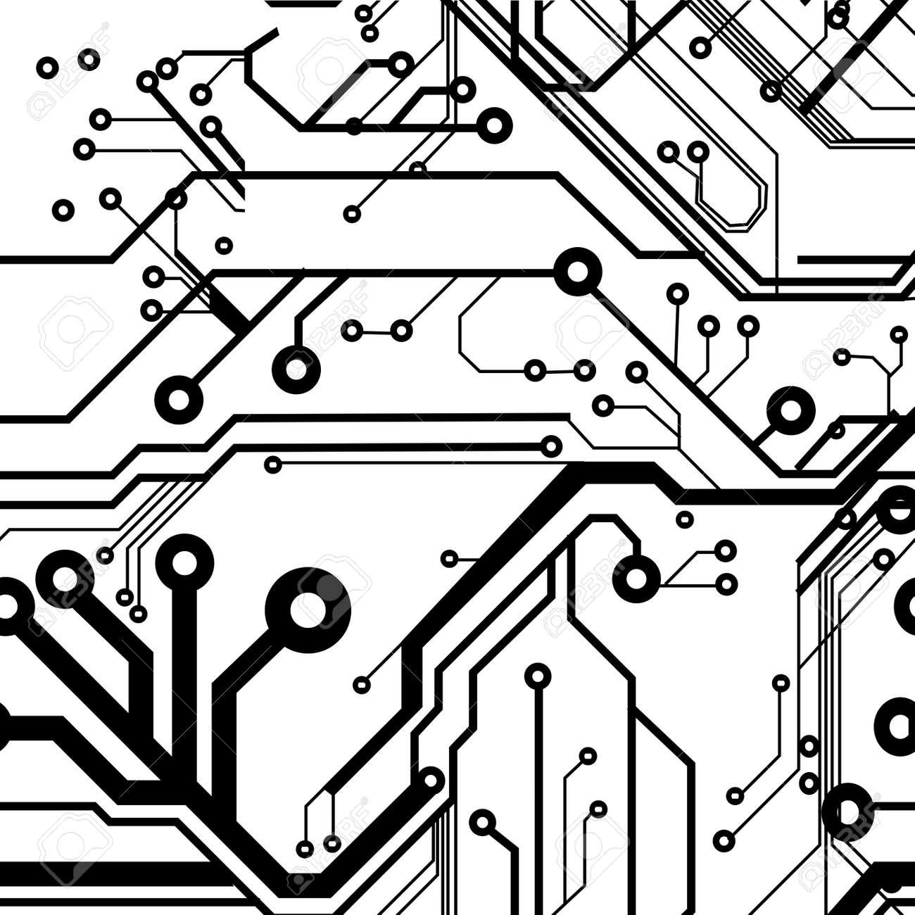 side vector circboard wiring diagram seamless printed circuit board pattern royalty free cliparts  seamless printed circuit board pattern