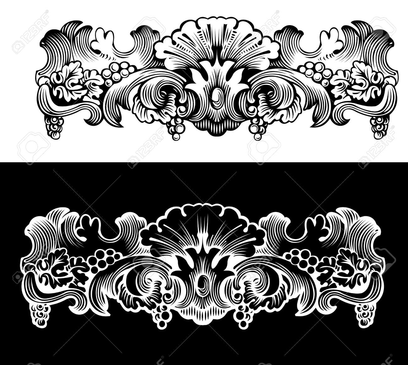 Antique Design Ekement Engraving, Scalable And Editable Vector Illustration Stock Vector - 8336518