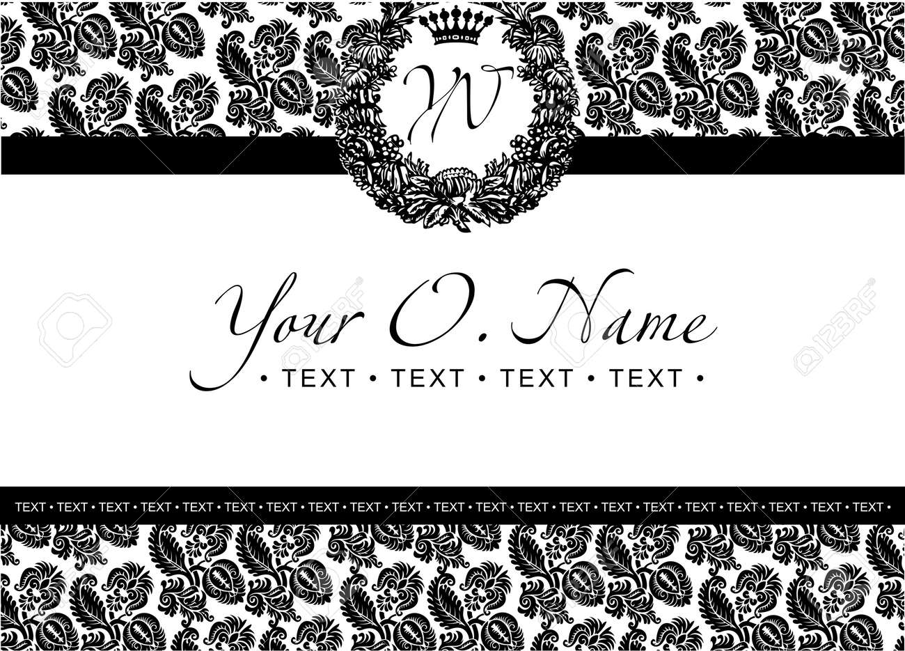 One Color Small Title Frame And Pattern Stock Vector - 8878231