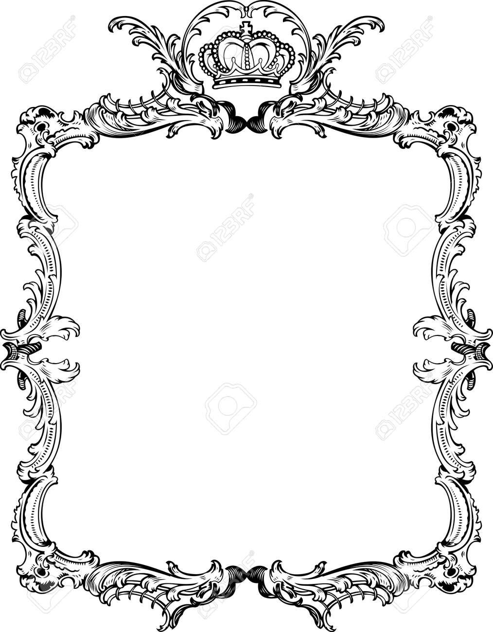 4bab7533069 Decorative Vintage Ornate Frame. Vector Illustration. Stock Vector - 9934853