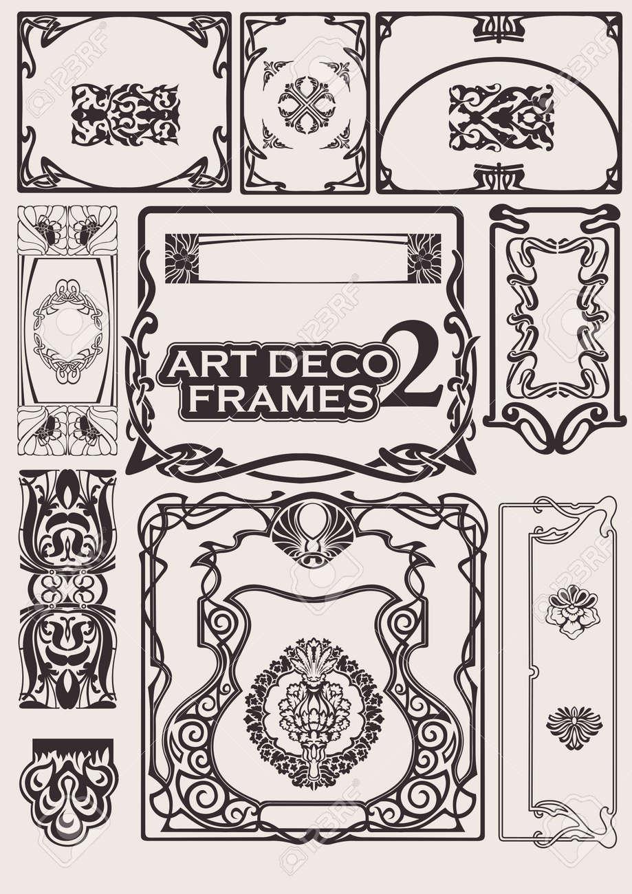 Set Of Art Deco Frames. Others In Portfolio. Stock Vector - 10704180