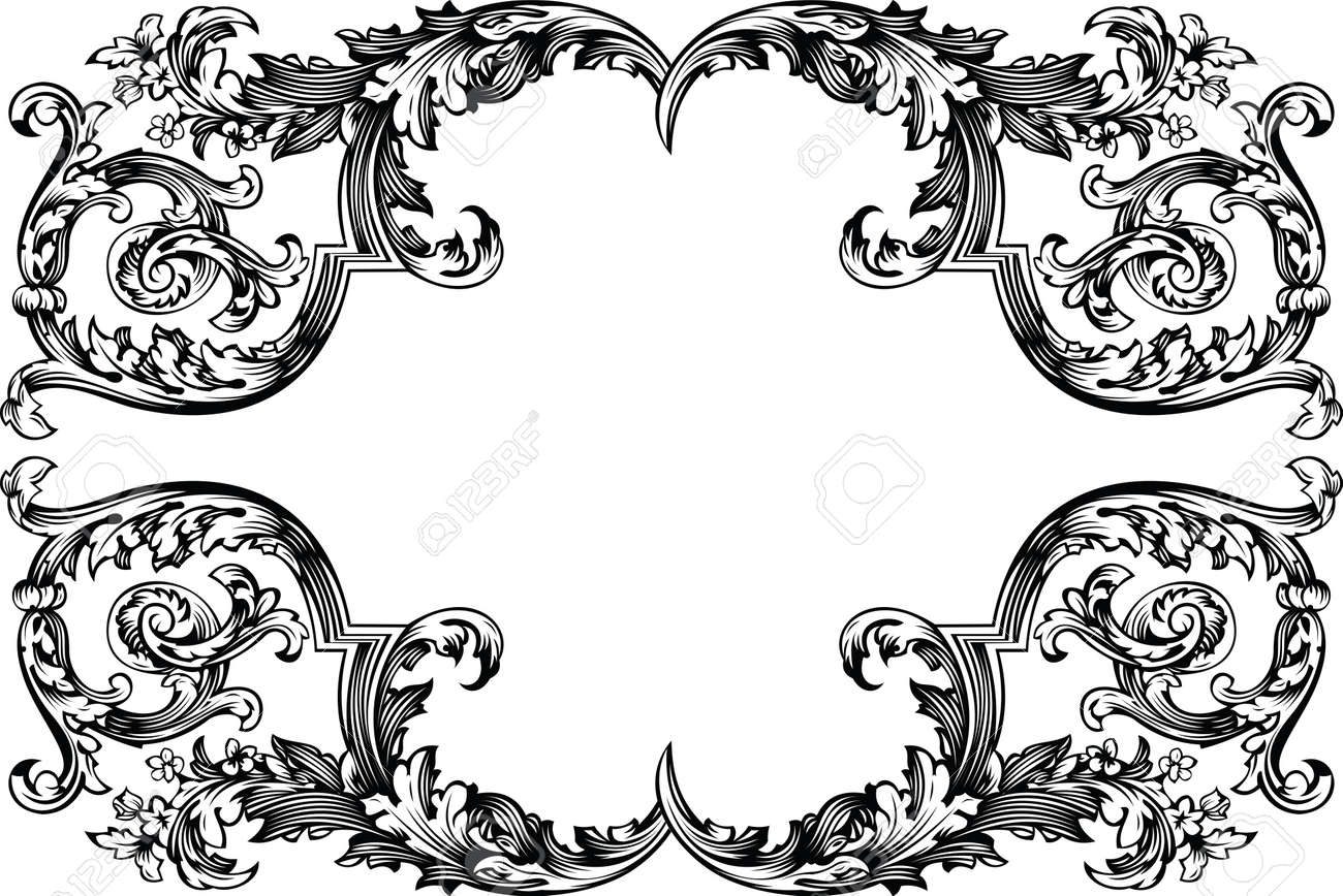 Vector Antique Vintage Frame. Isolated On White For Design. Stock Vector - 10704179