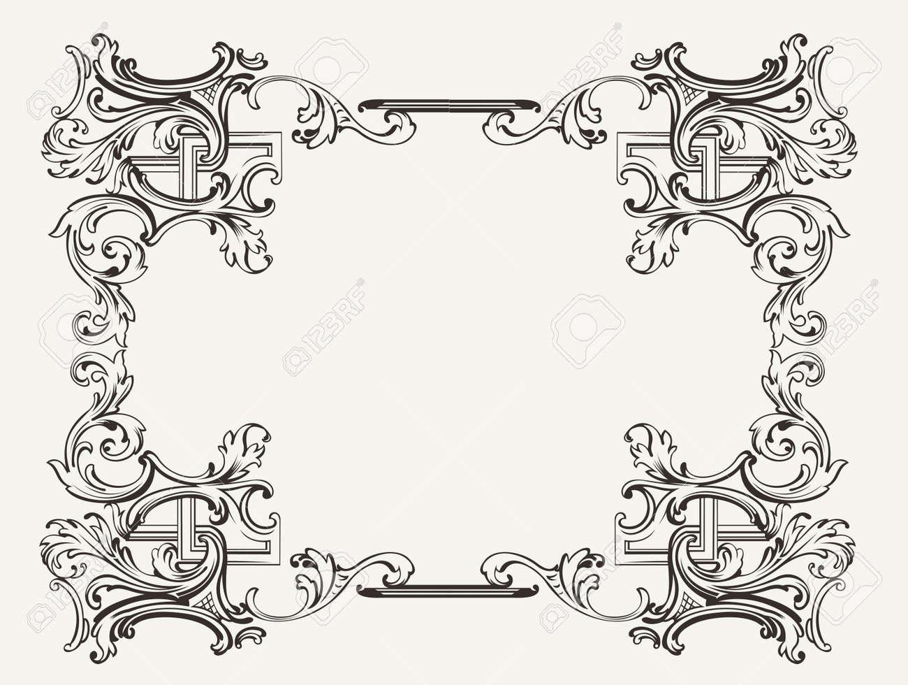 Original Renaissance Ornate Frame Royalty Free Cliparts, Vectors ...