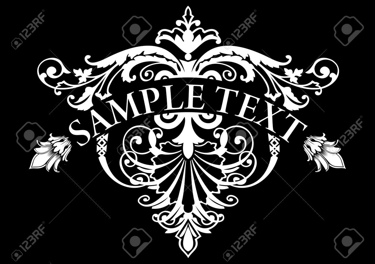 Vintage Ornate Triangle Banner Stock Vector - 22296357