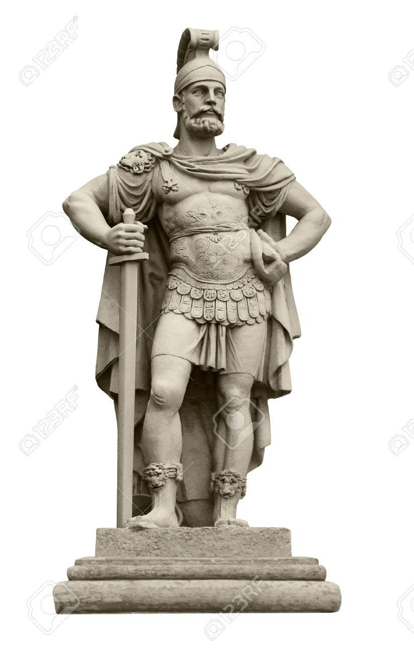Statue Of Roman God Of War Mars Identical To Ares In Greek Mythology