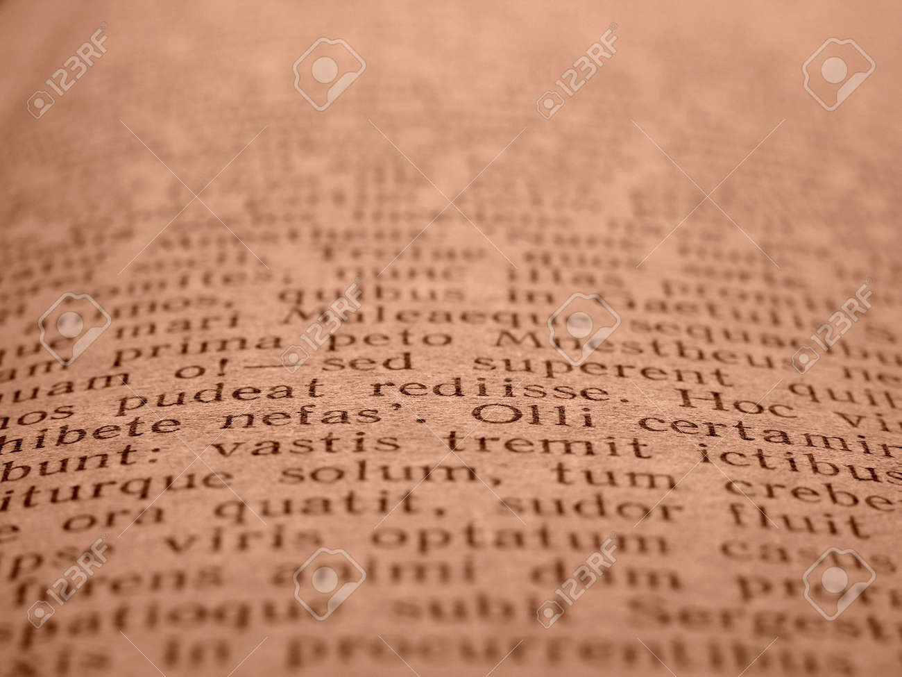 sepia toned book page with ancient latin poem stock photo 3609927