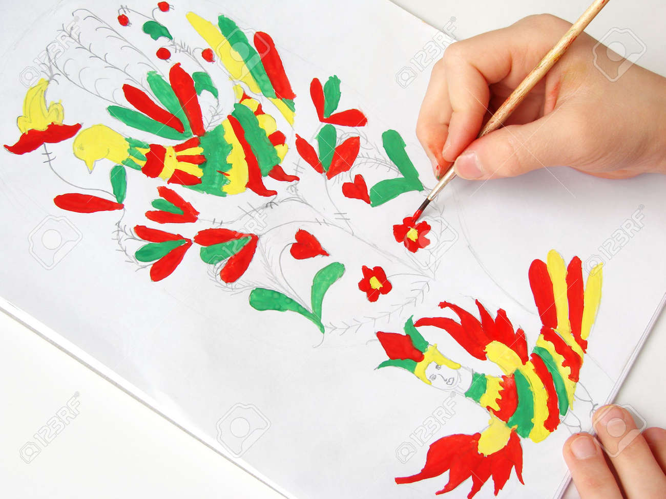 painting with watercolor paints Stock Photo - 4386653