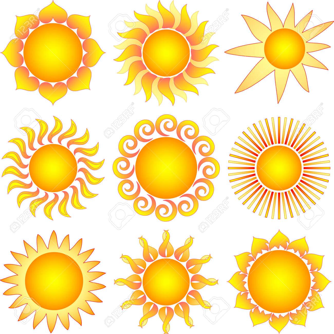 sun collection Stock Vector - 8090744