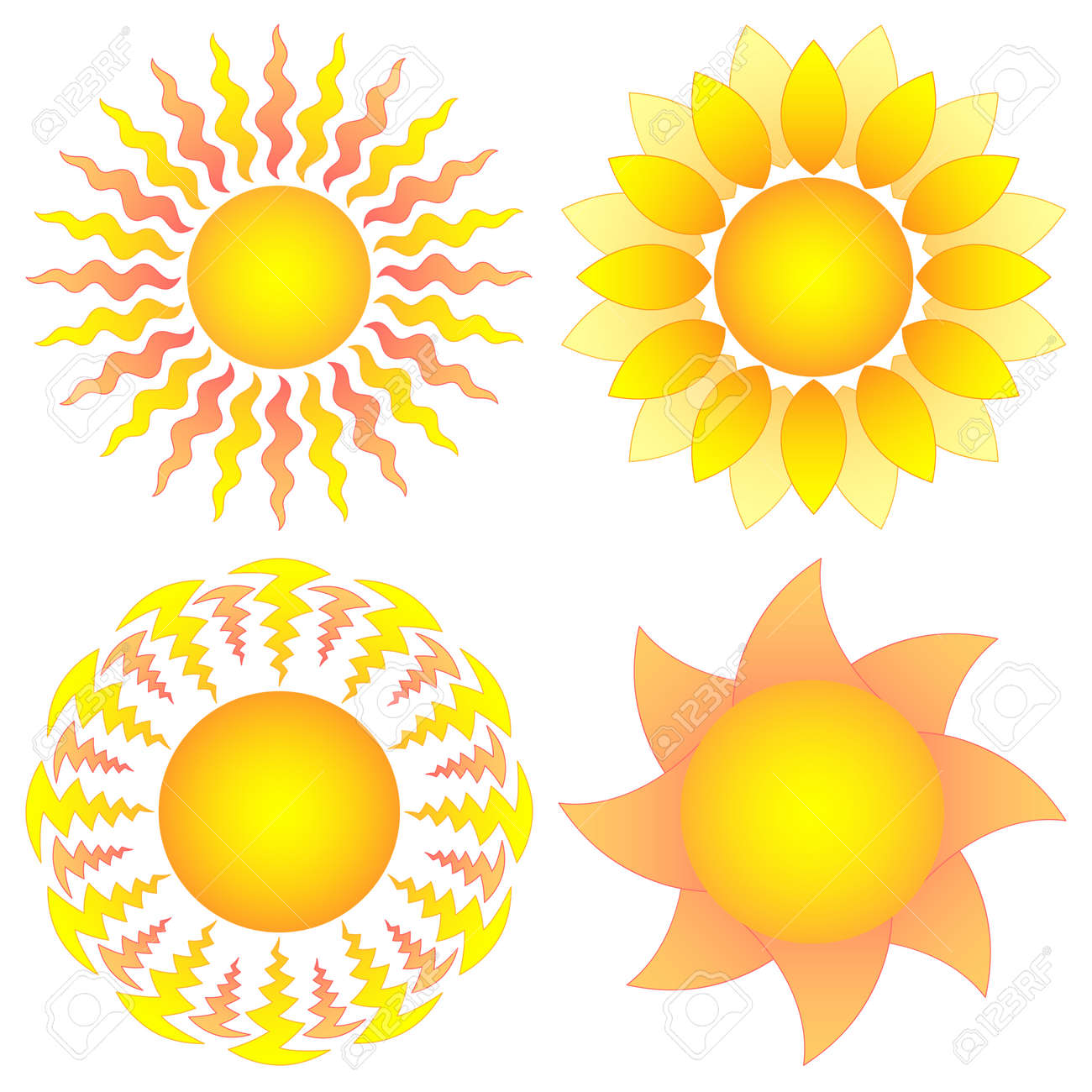 symbolic  sun collection Stock Vector - 8390654