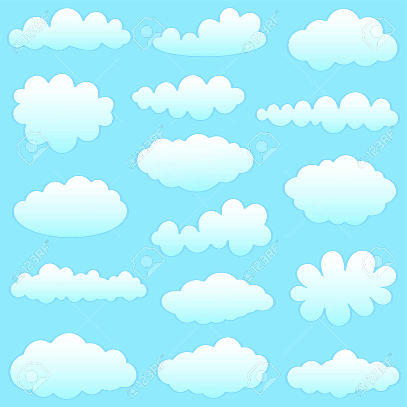 clouds collection Stock Vector - 8563587