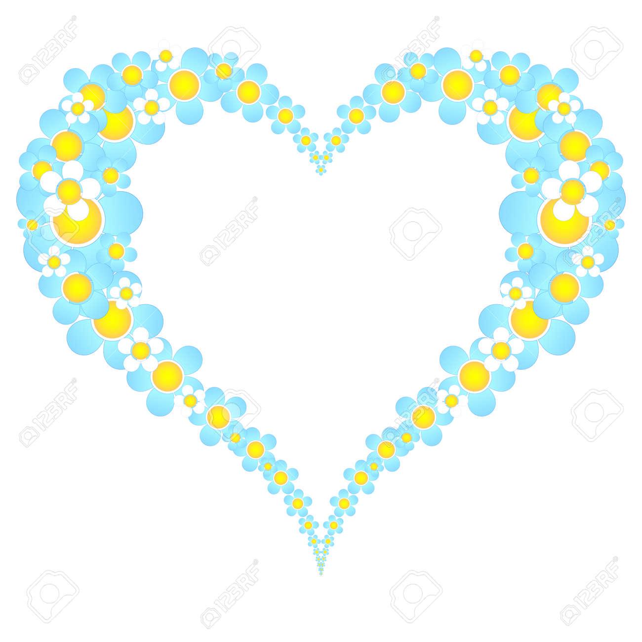valentine floral heart frame Stock Vector - 8705013