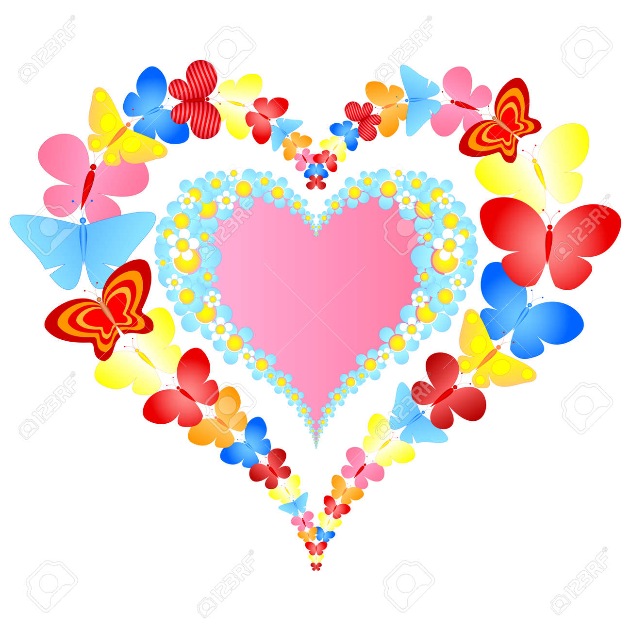 valentine symbolic heart Stock Vector - 8976712