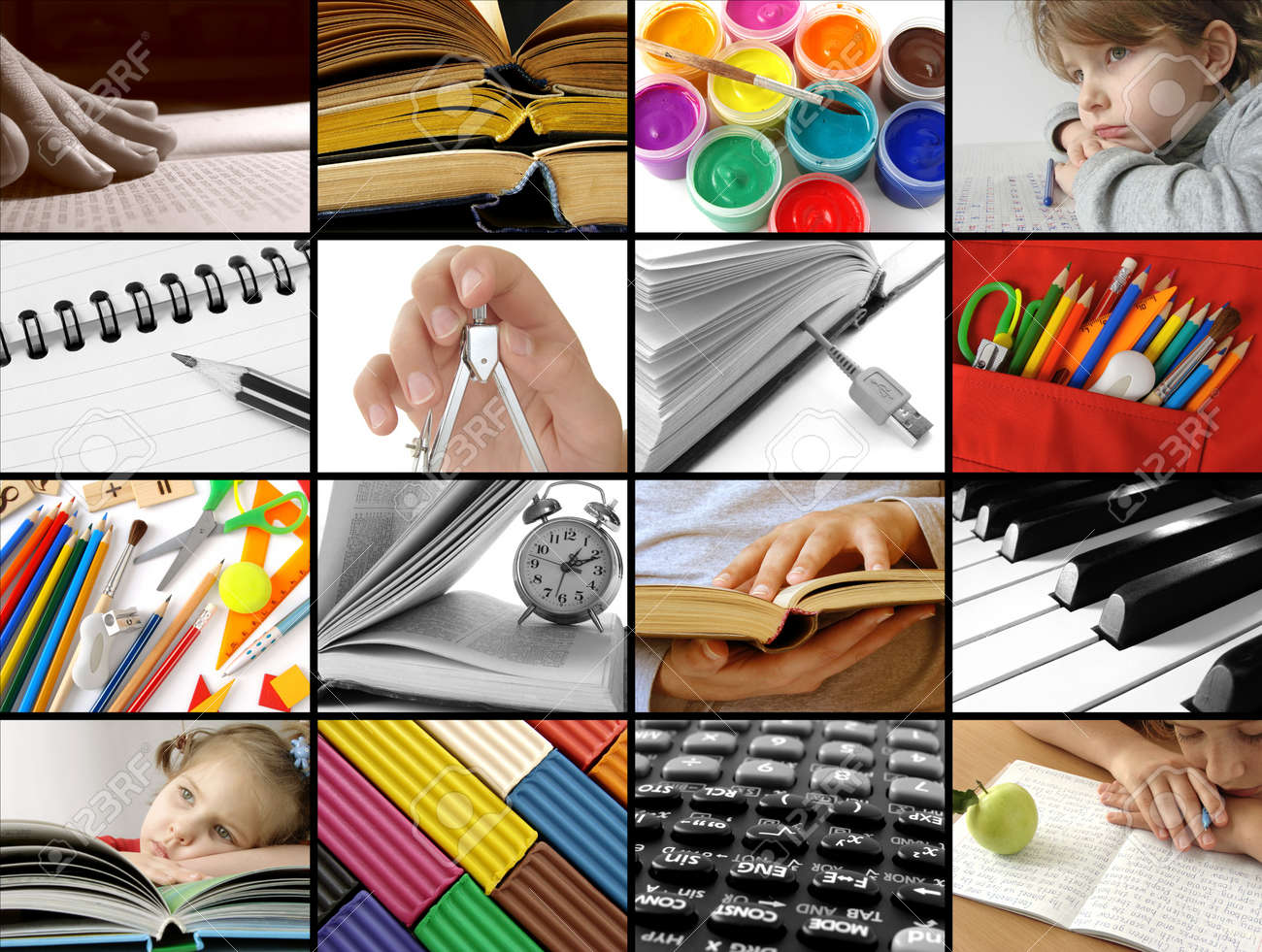 Back To School Concept Collage Stock Photo Picture And Royalty Free