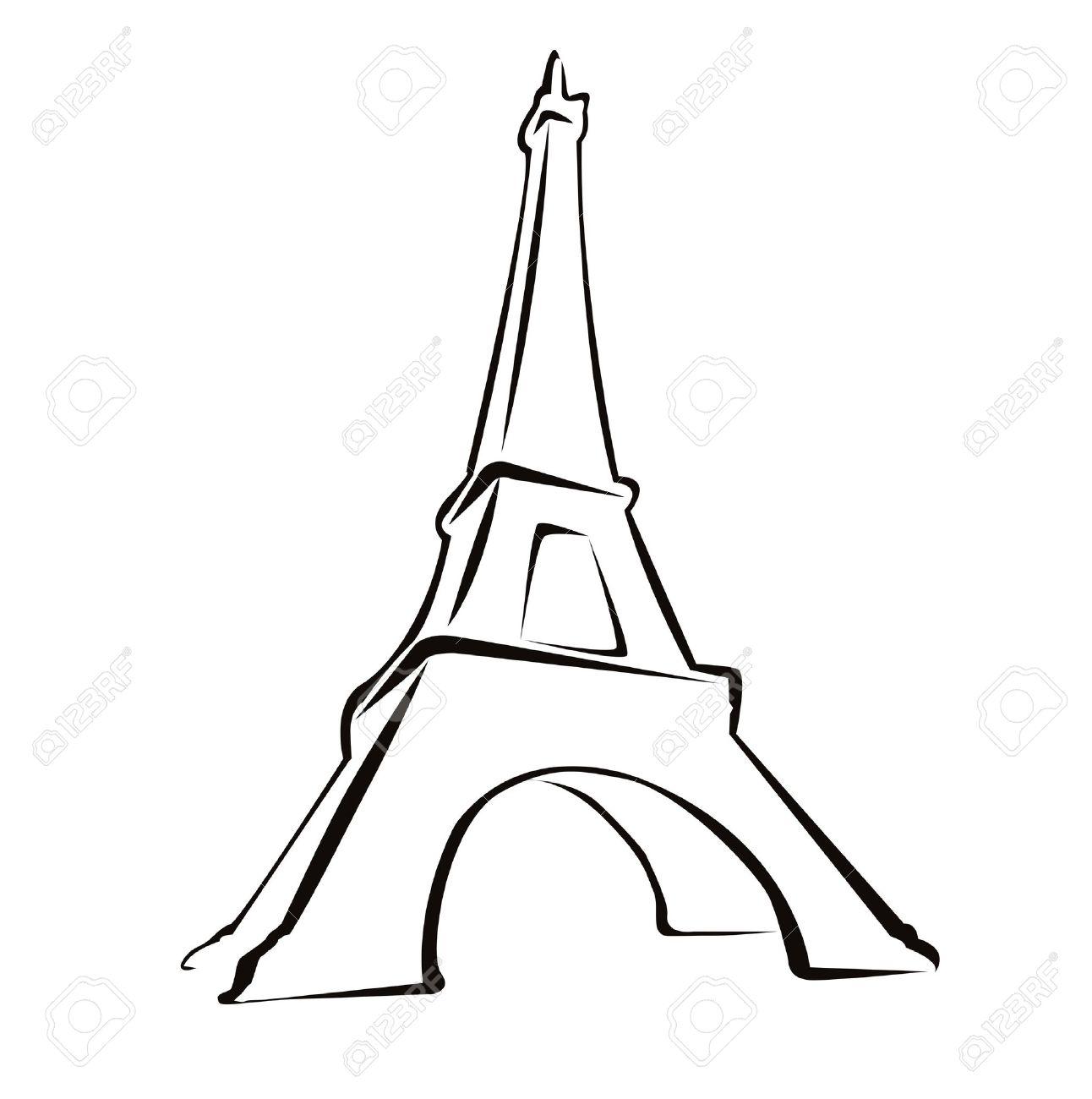 Рисунки силуэта эйфелевой башни