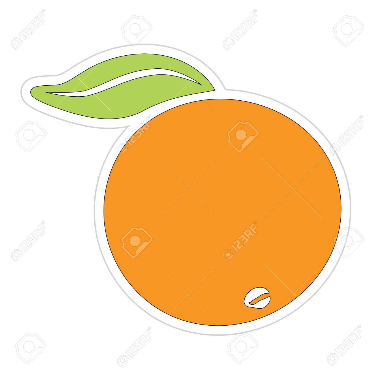 Cartoon Orange Sticker Stock Vector - 18543632