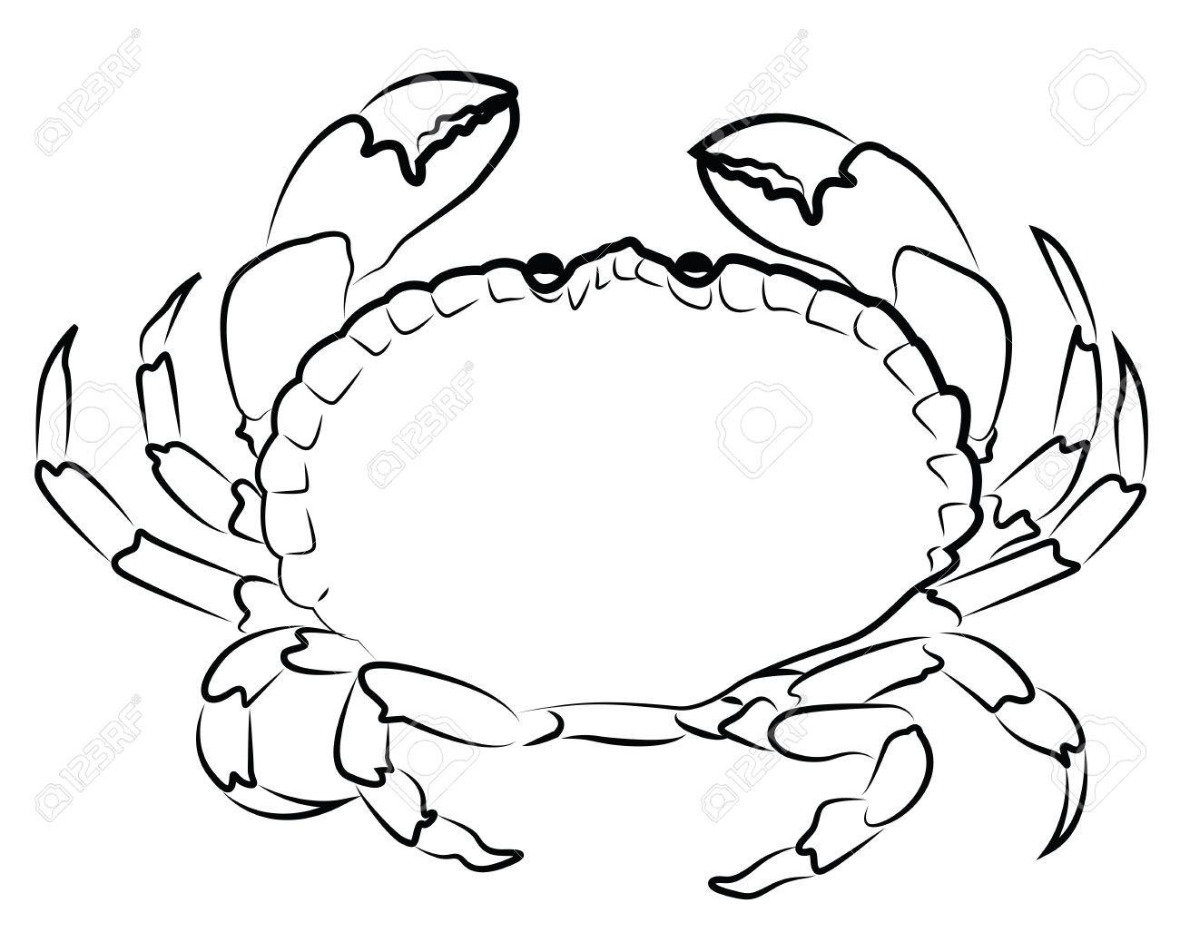 Crab silhouette isolated on white Stock Vector - 20085699