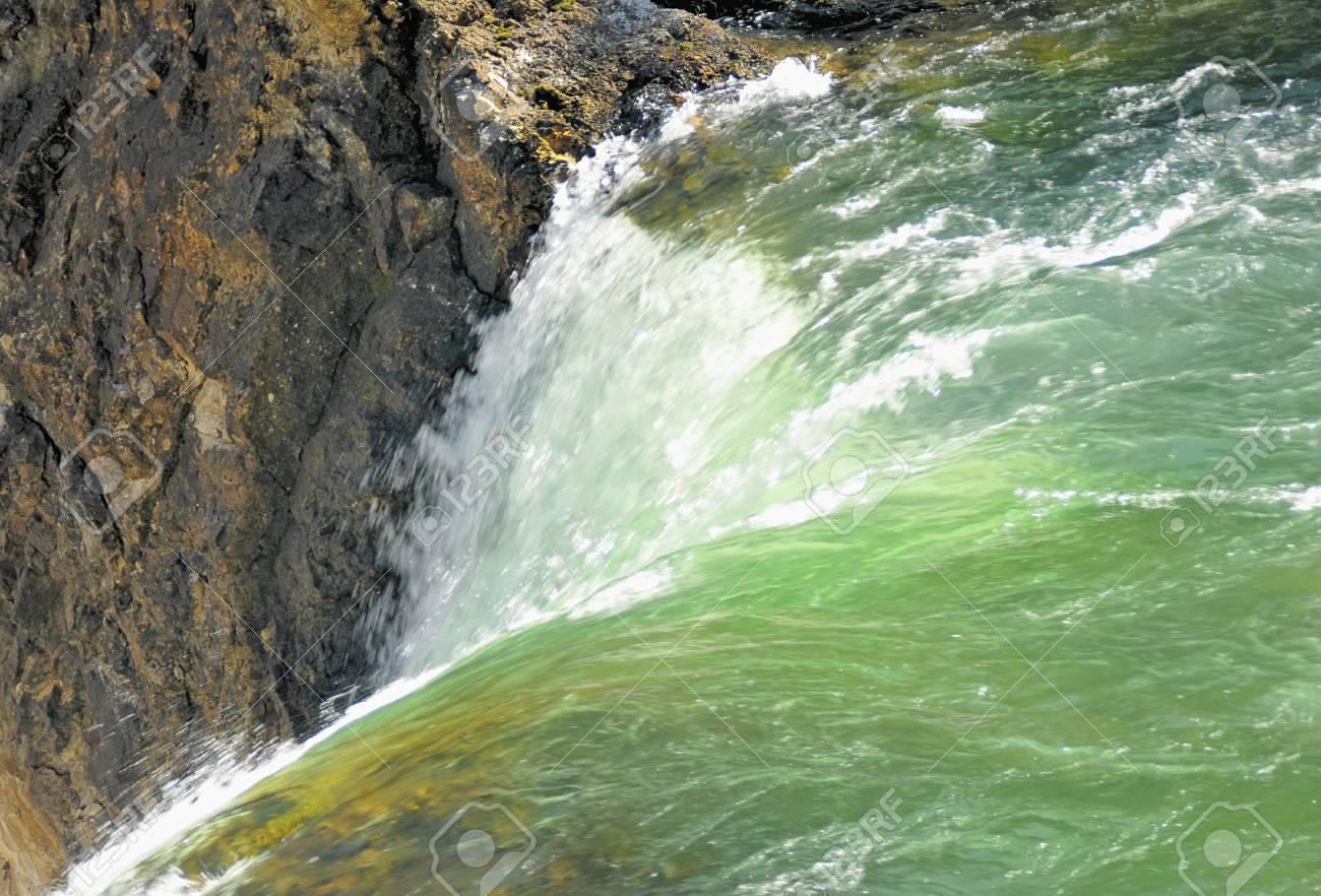 Waterfall on Canyon Close-up Stock Photo - 11108016