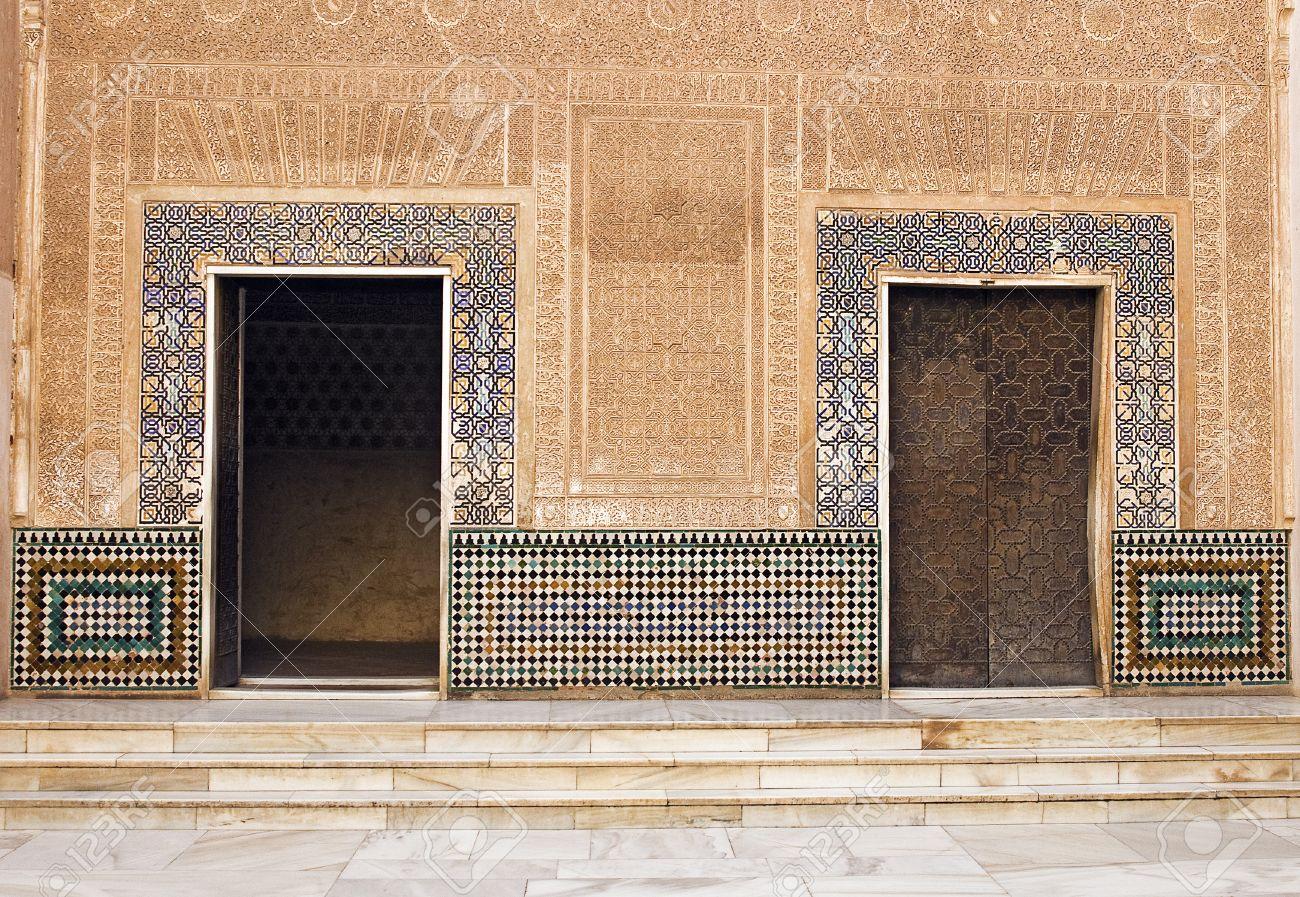 Moorish Doors at Alhambra Palace - Granada Spain Stock Photo - 14640101 & Moorish Doors At Alhambra Palace - Granada Spain Stock Photo ...