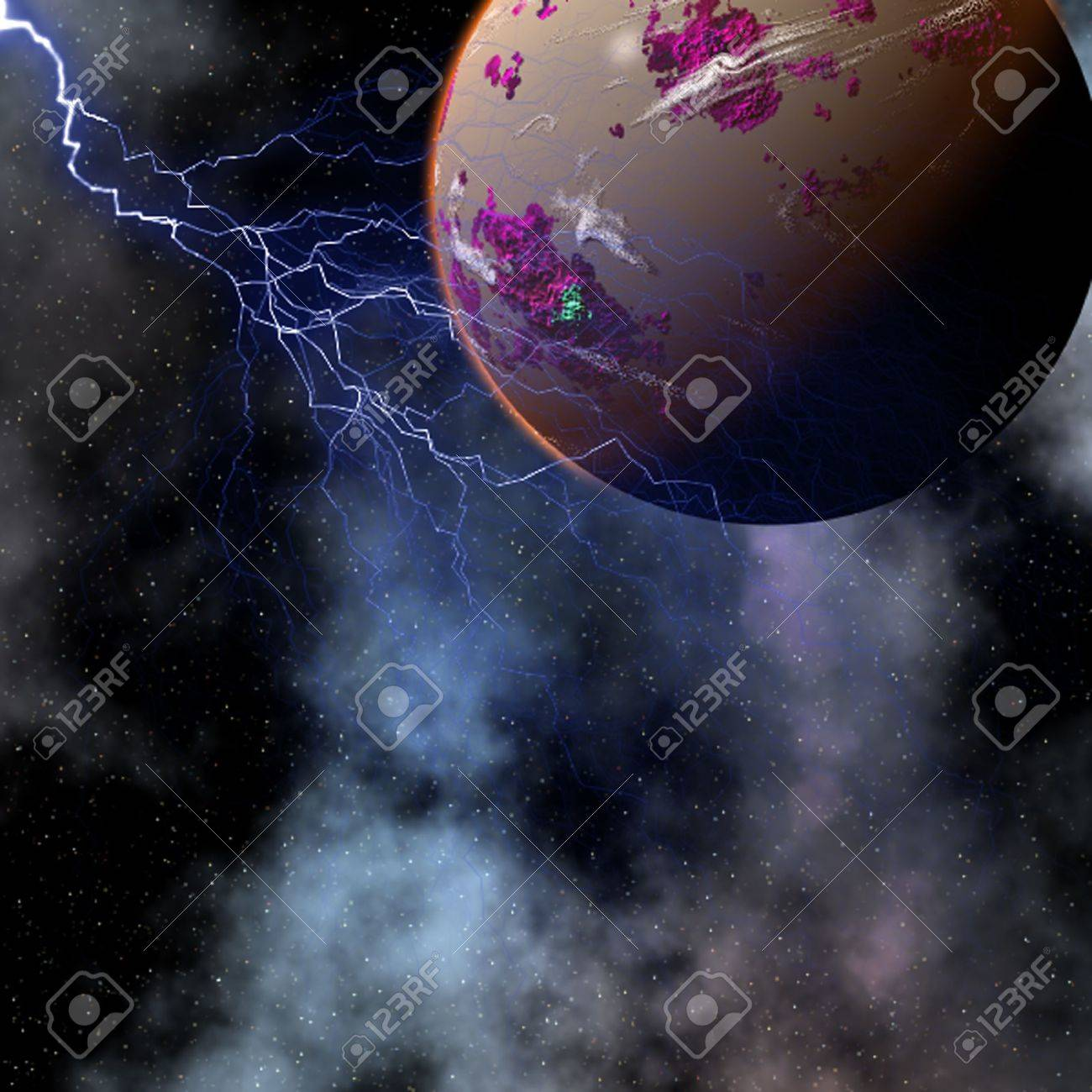 charged planet Stock Photo - 2009286