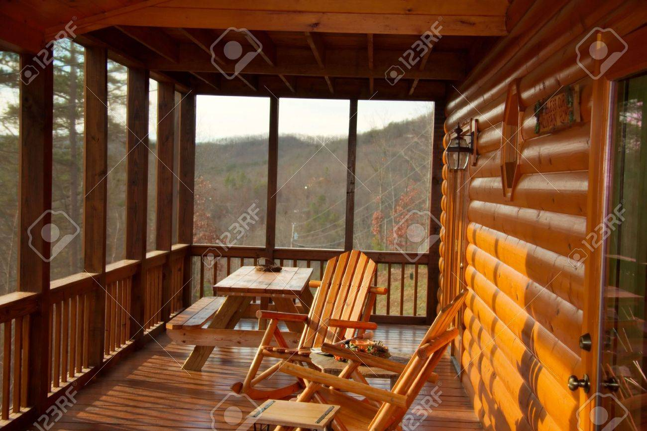 cabin porch Stock Photo - 2302445
