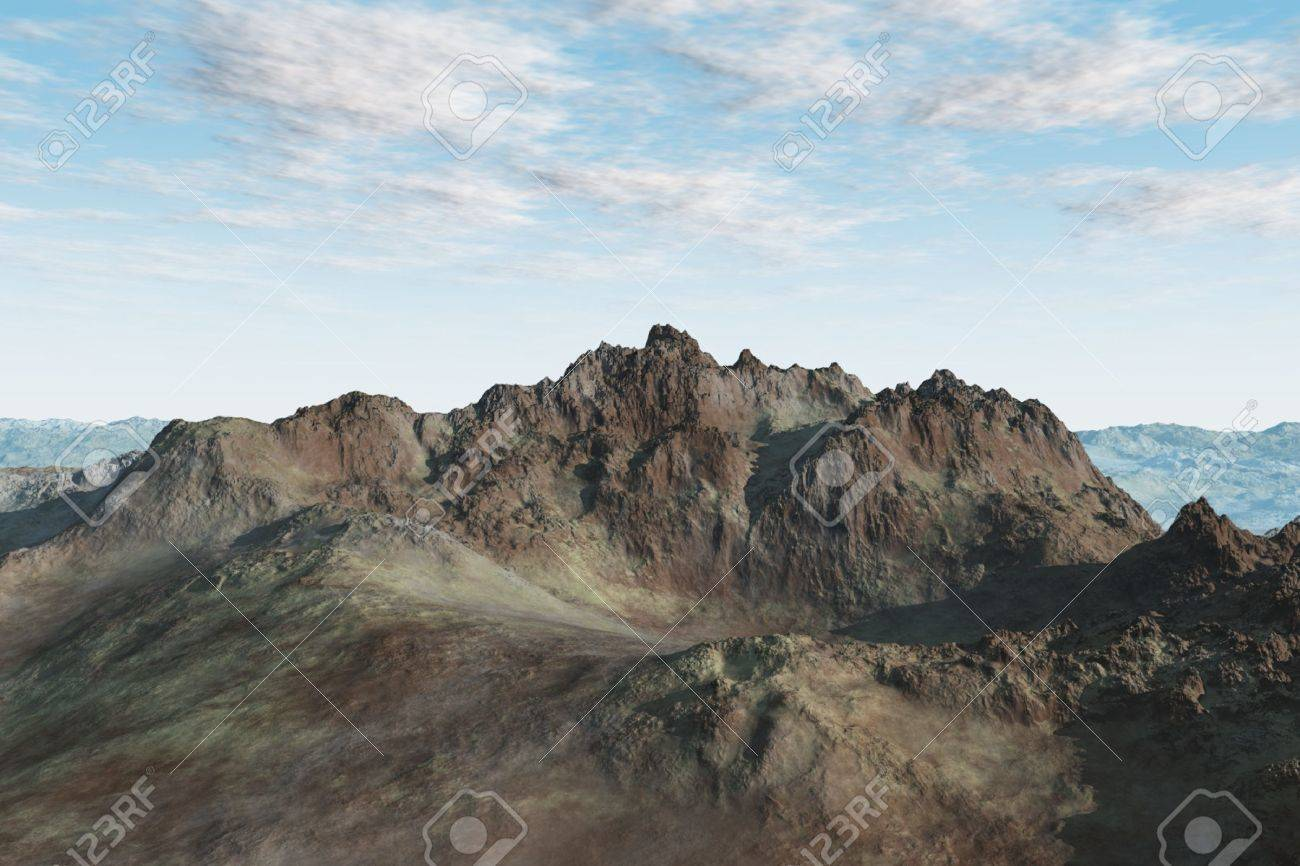 Very isolated mountain landscape with varying shapes and textues. Stock Photo - 4686413