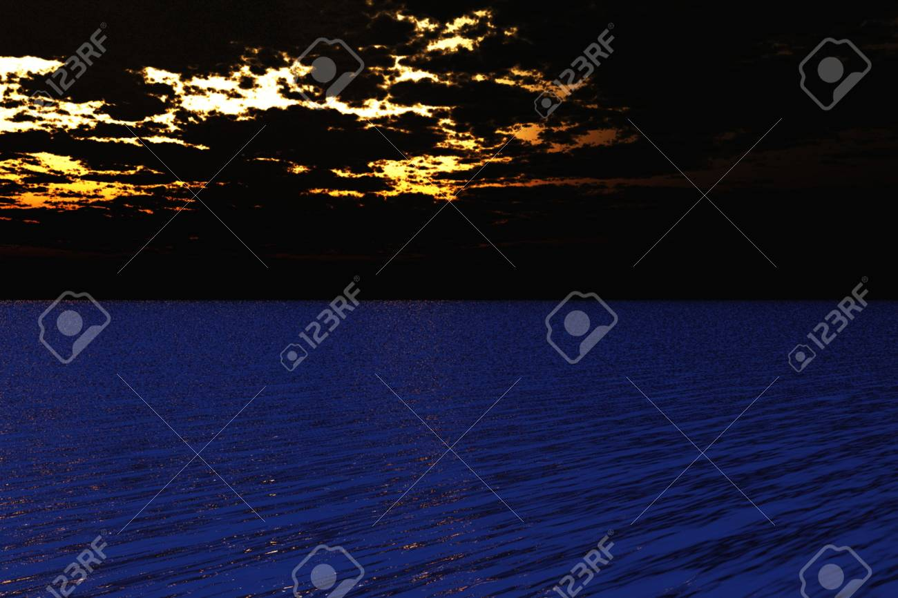 Beautiful vibrant evening scene over the sea. Stock Photo - 6621470