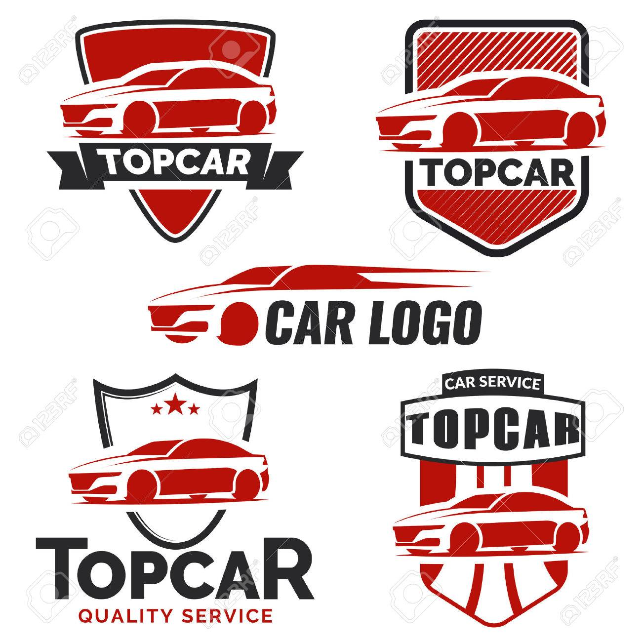 modern car logo on white background royalty free cliparts vectors