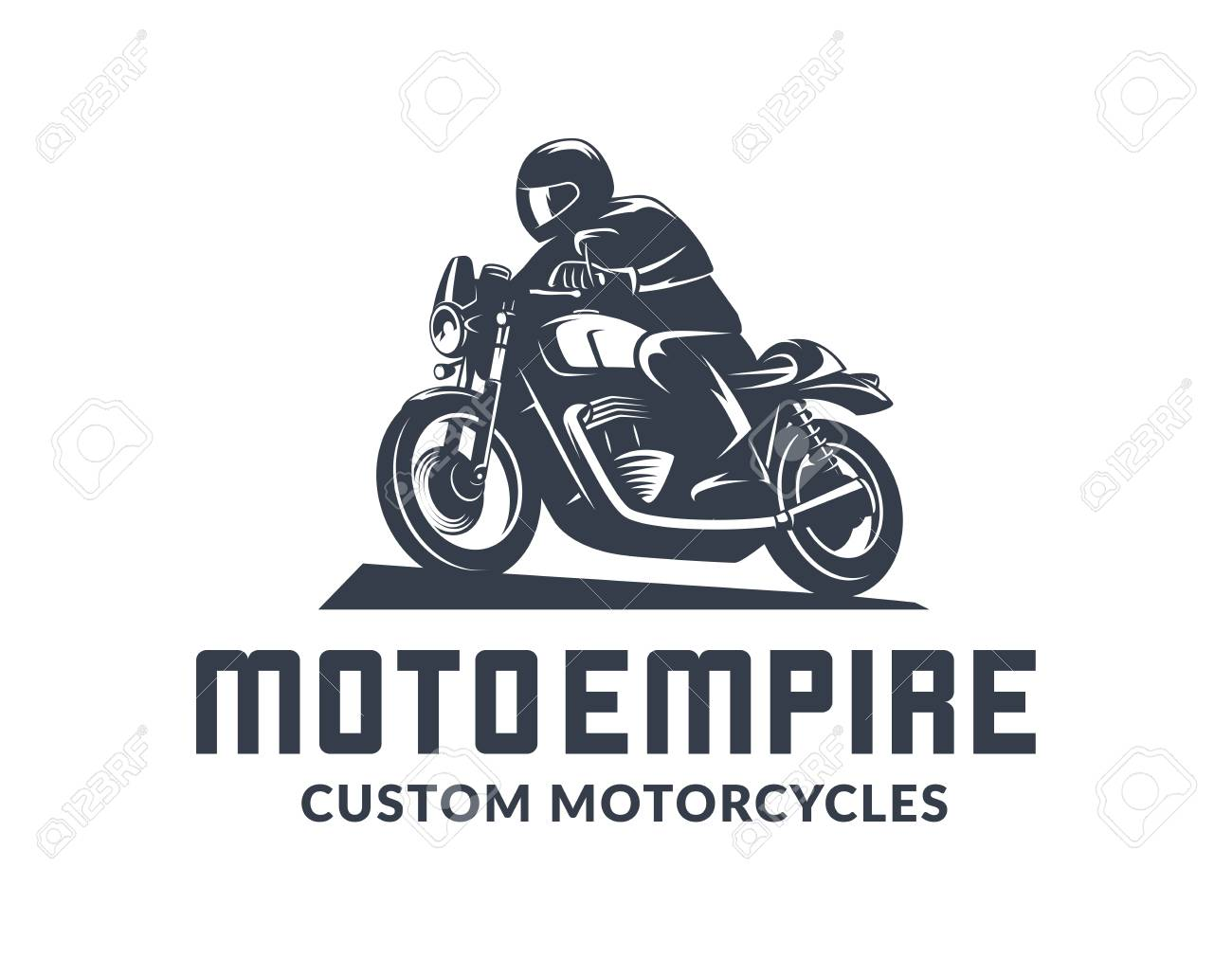 Vintage Cafe Racer Motorcycle Logo Isolated On White Background Royalty Free Cliparts Vectors And Stock Illustration Image 98116215