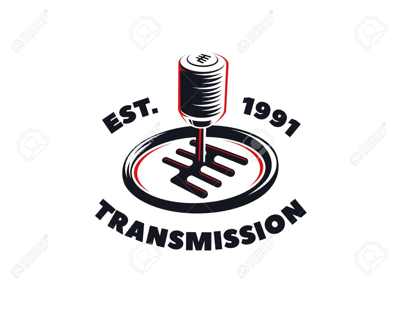 Car transmission service logo on white background  Automatic