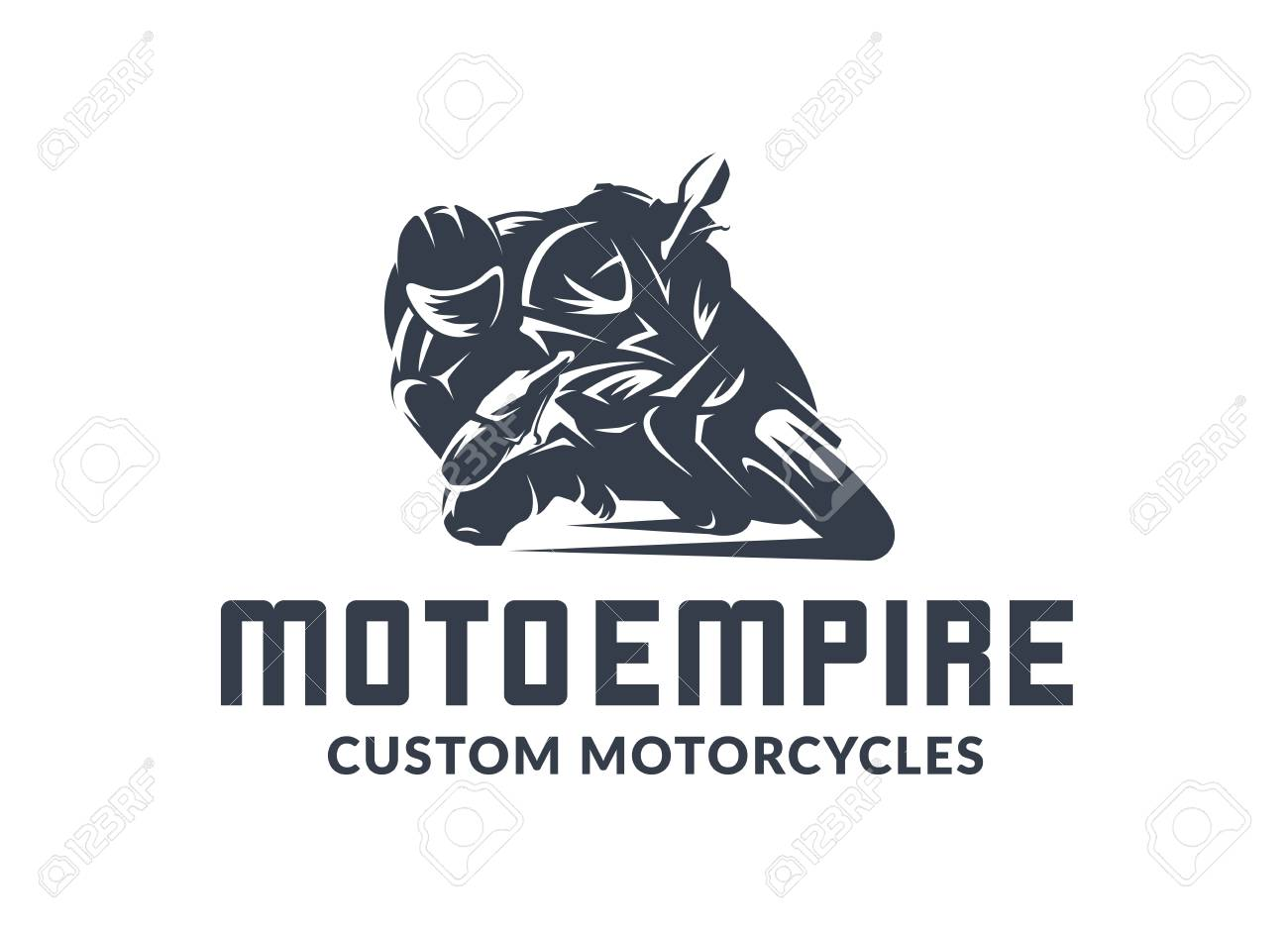 Racing Motorcycle Logo On White Background Superbike Vector Royalty Free Cliparts Vectors And Stock Illustration Image 111003514