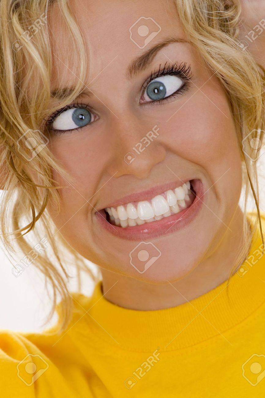 A beautiful young woman...losing it! Stock Photo - 1050560