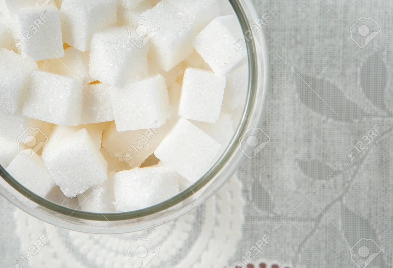 a jar of sugar cube - 41381739