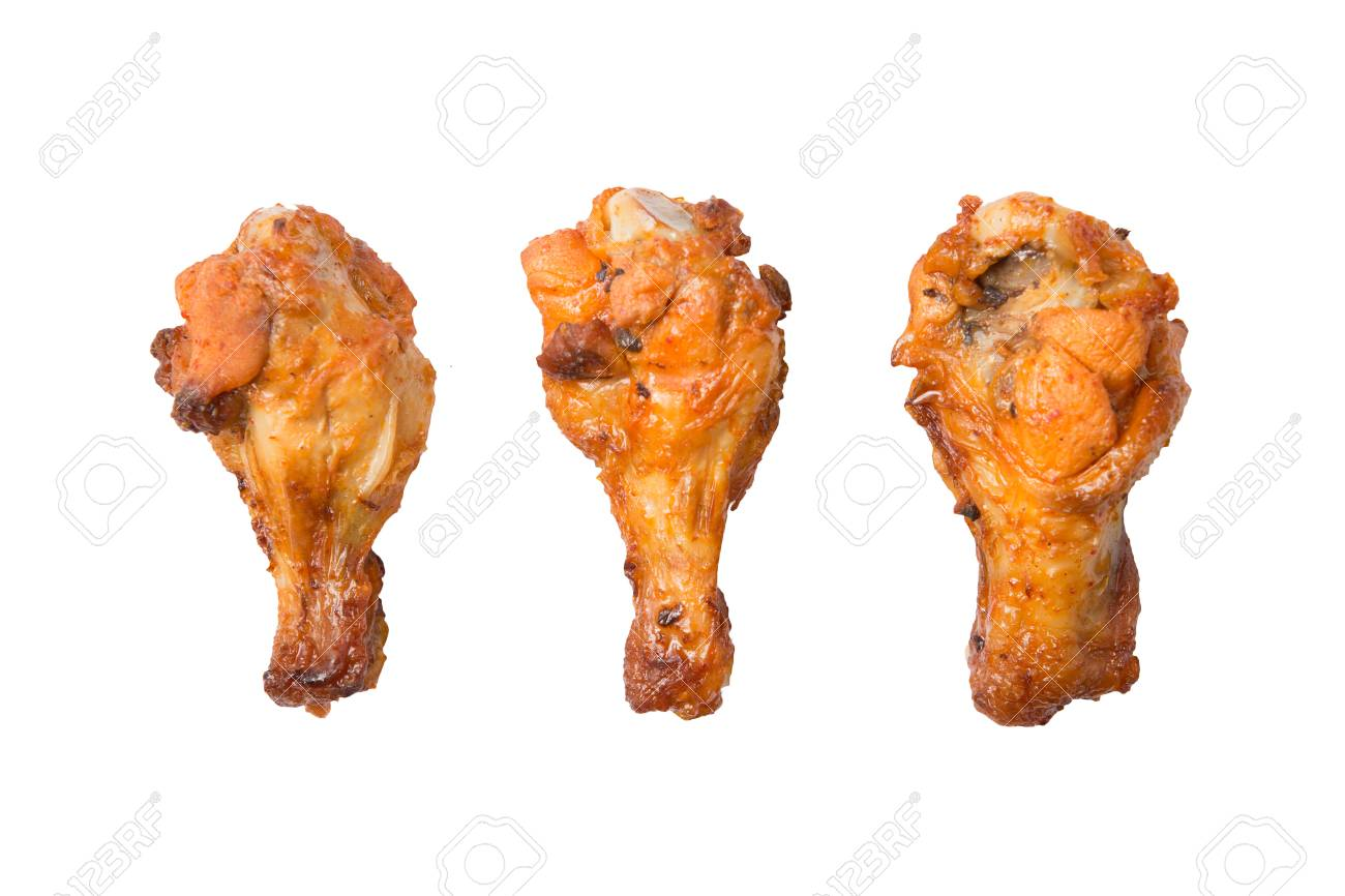 Isolated grilled chicken wing on a white background - 70747148
