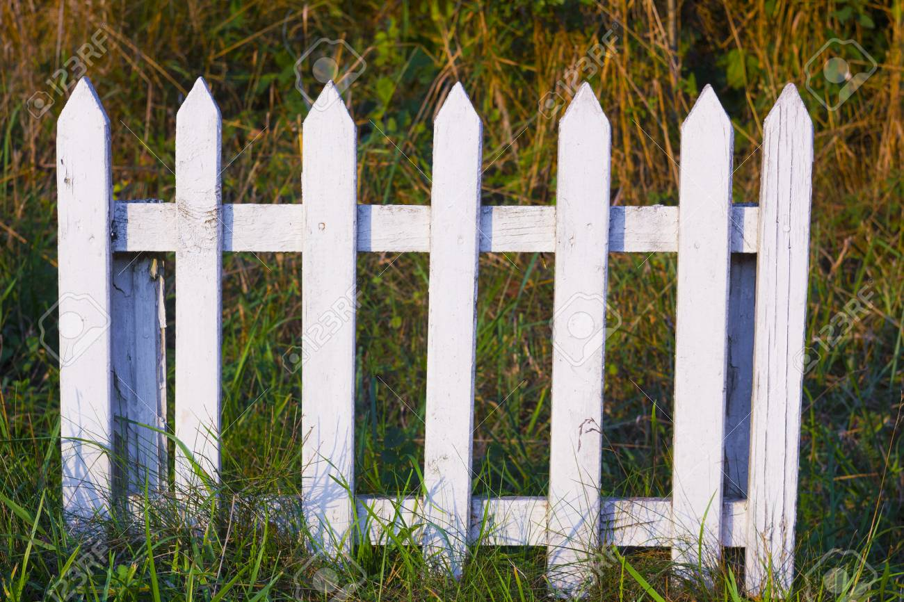 The Small Wooden Fence Fencing Off Places On The Camping Stock Photo Alamy