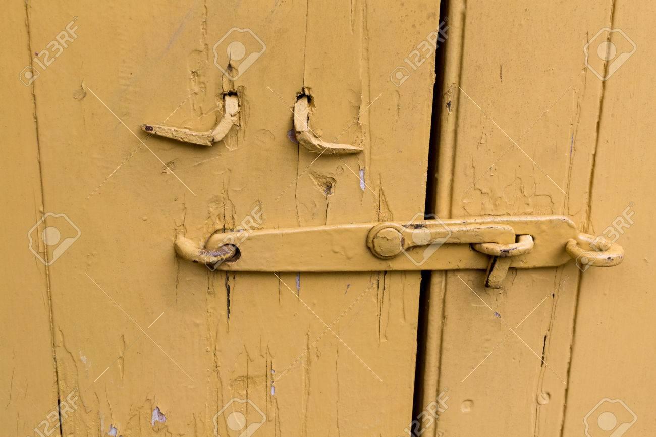 Barn door latches - Barn Door Latch Stock Photo