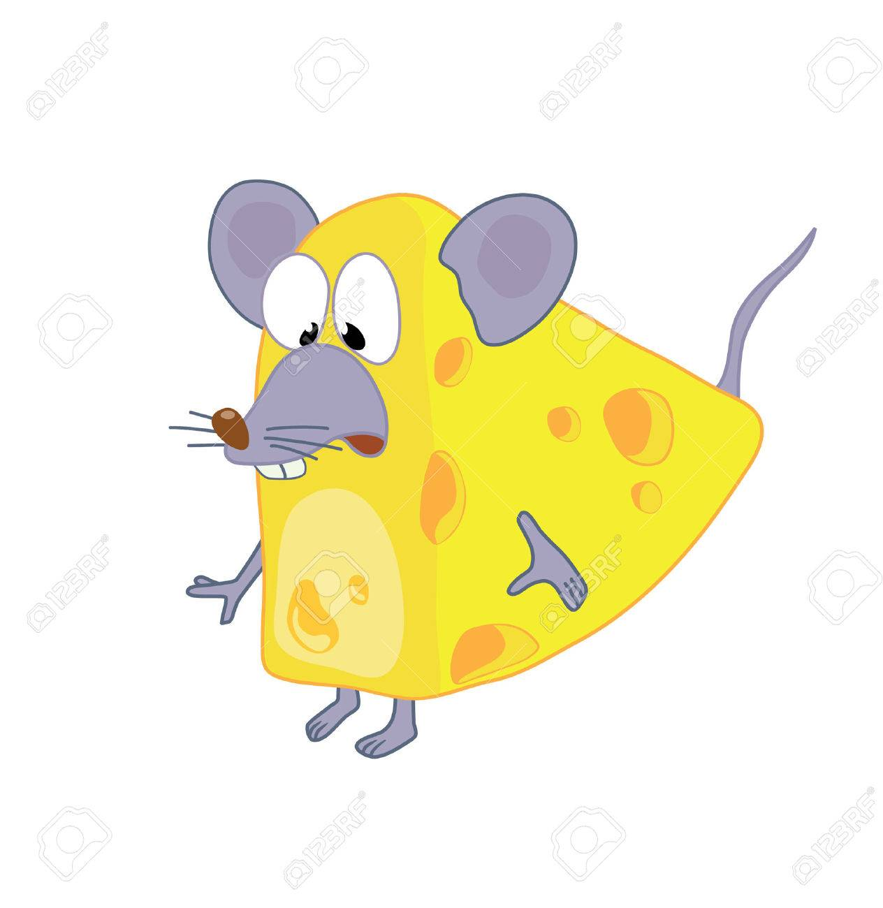 funny mouse in cheese royalty free cliparts vectors and stock