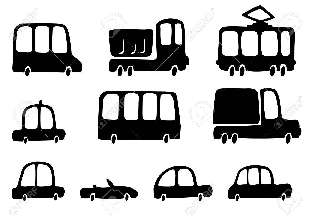 Fun silhouettes cars Stock Vector - 5506201