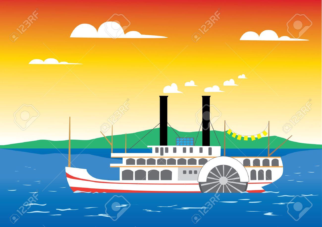 Sailing Boat Cartoon The River Boat Cartoon