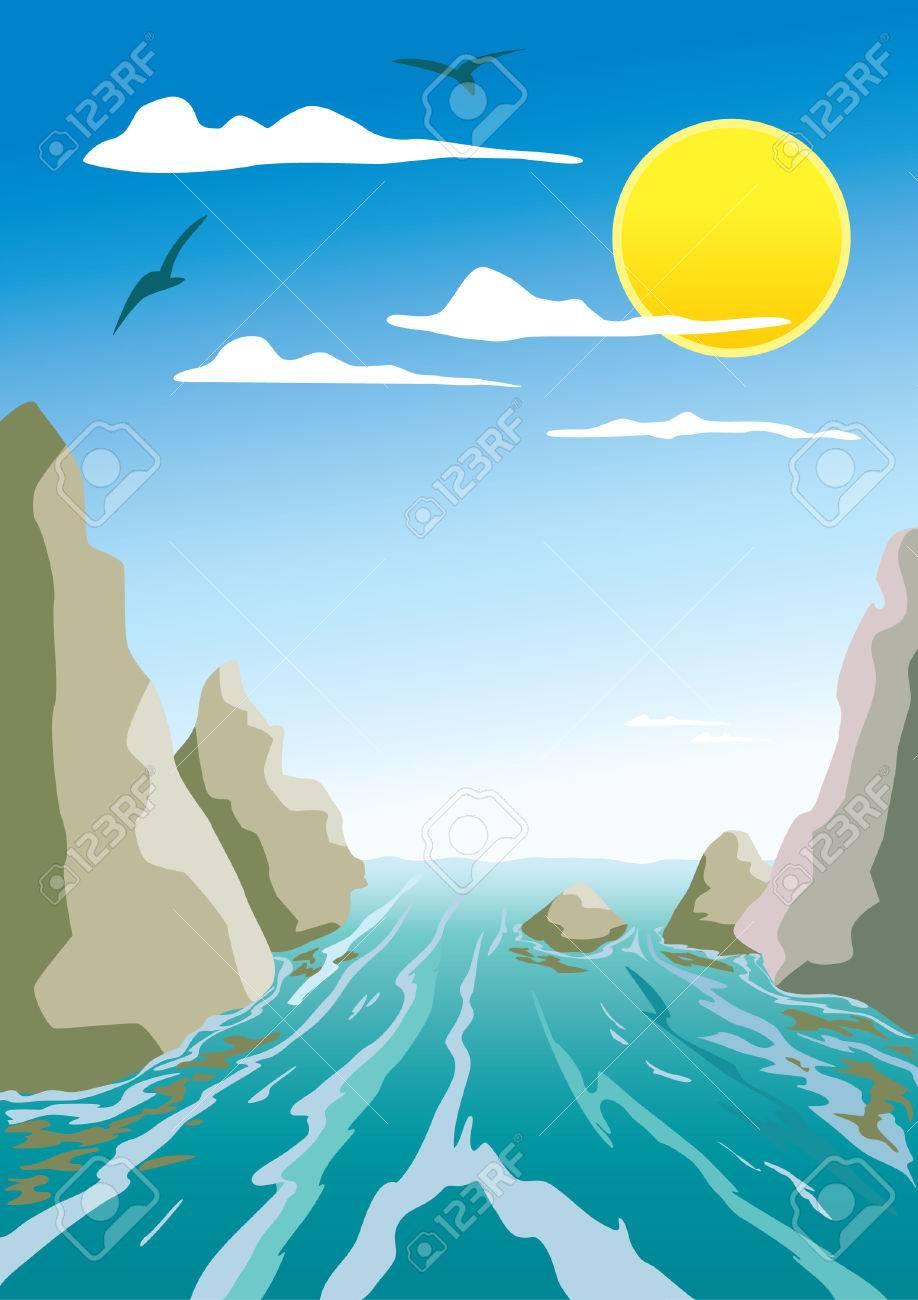 Ocean Flow Clip Art