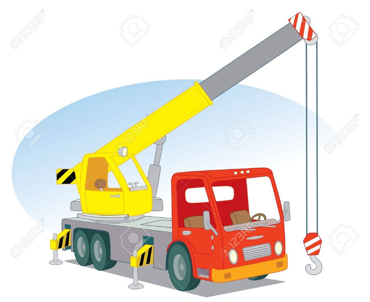 Crane car Stock Vector - 14192404