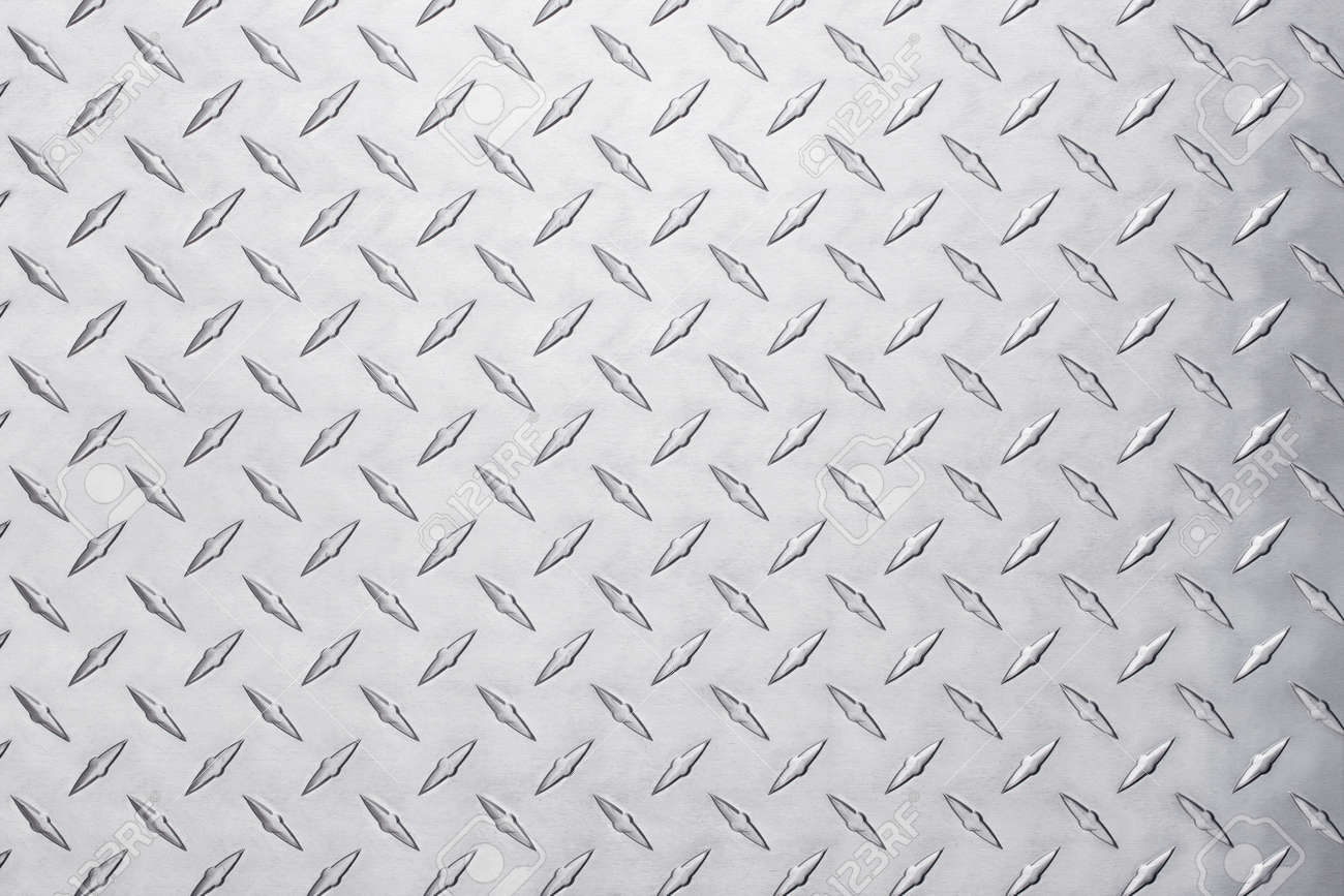 shiny metal texture with diamond pattern. stainless steel background - 163918670