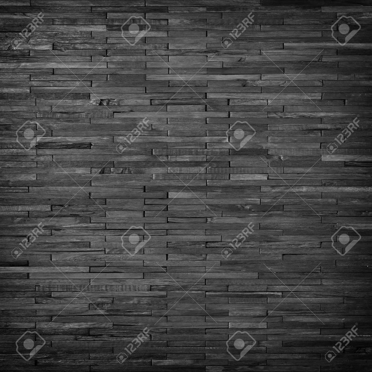 black plank wall panel, dark wood texture background - 172928703