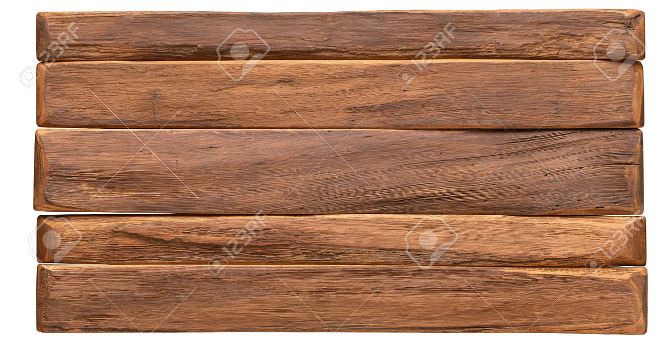 wood texture. vintage board surface isolated on white background - 173142295