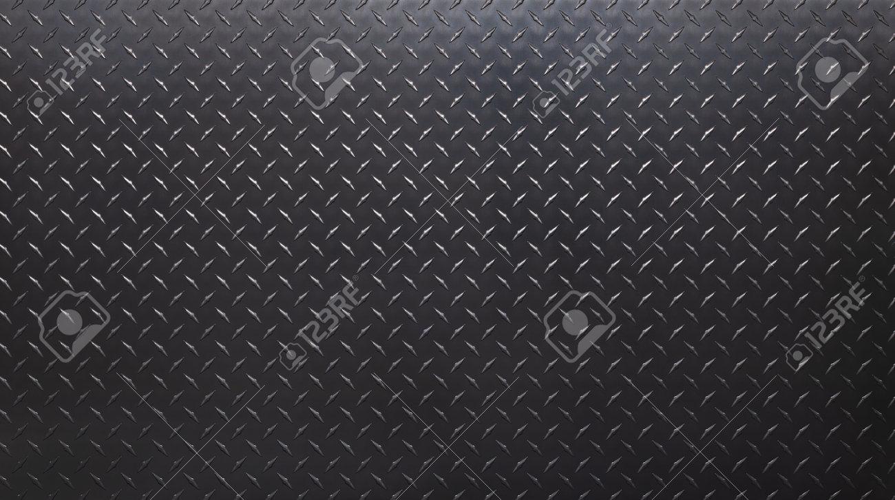 dark steel plate with diamond print. gray metal texture. - 173329655