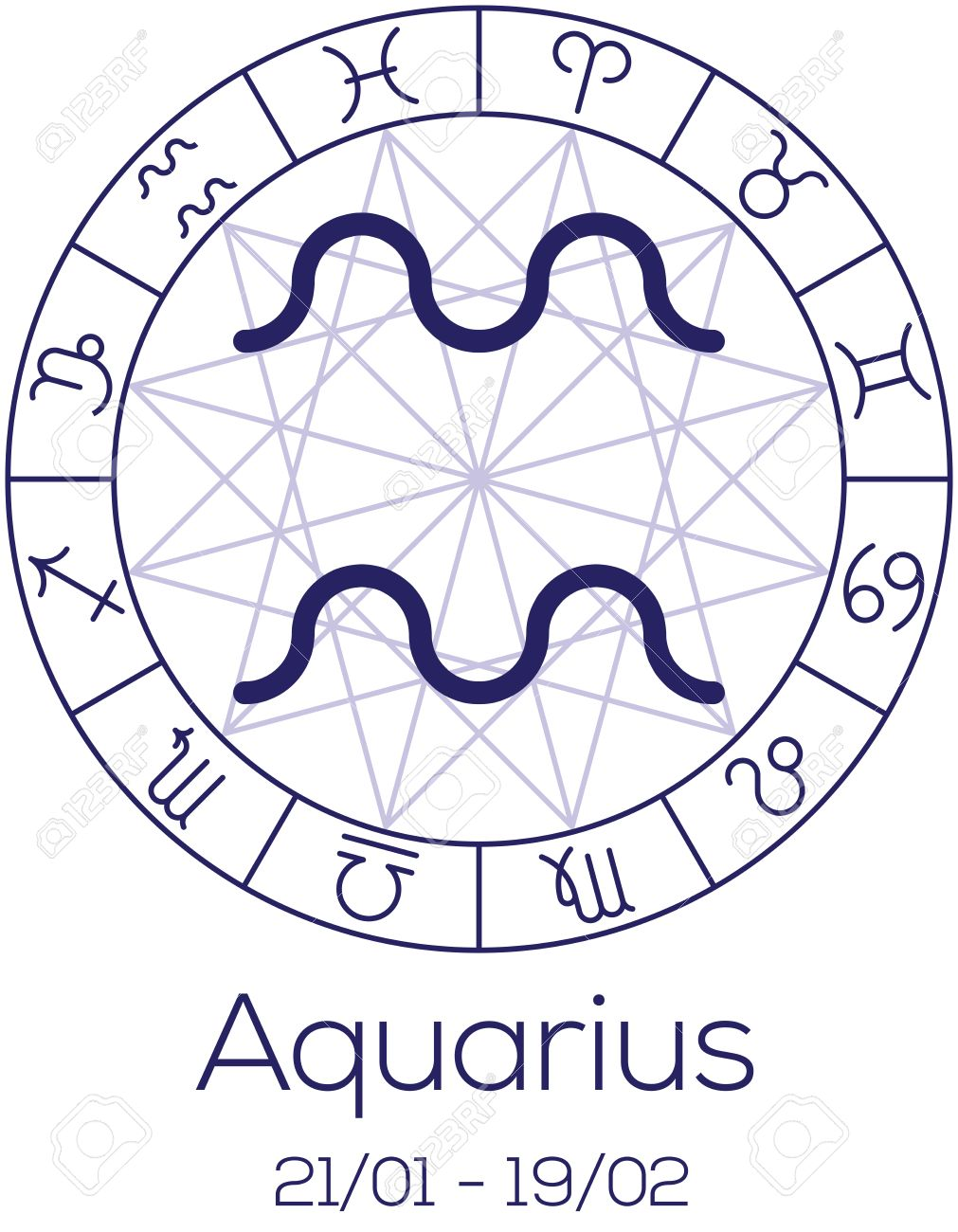 Zodiac sign aquarius astrological symbol in wheel with polygonal zodiac sign aquarius astrological symbol in wheel with polygonal background astrology chart in geenschuldenfo Gallery