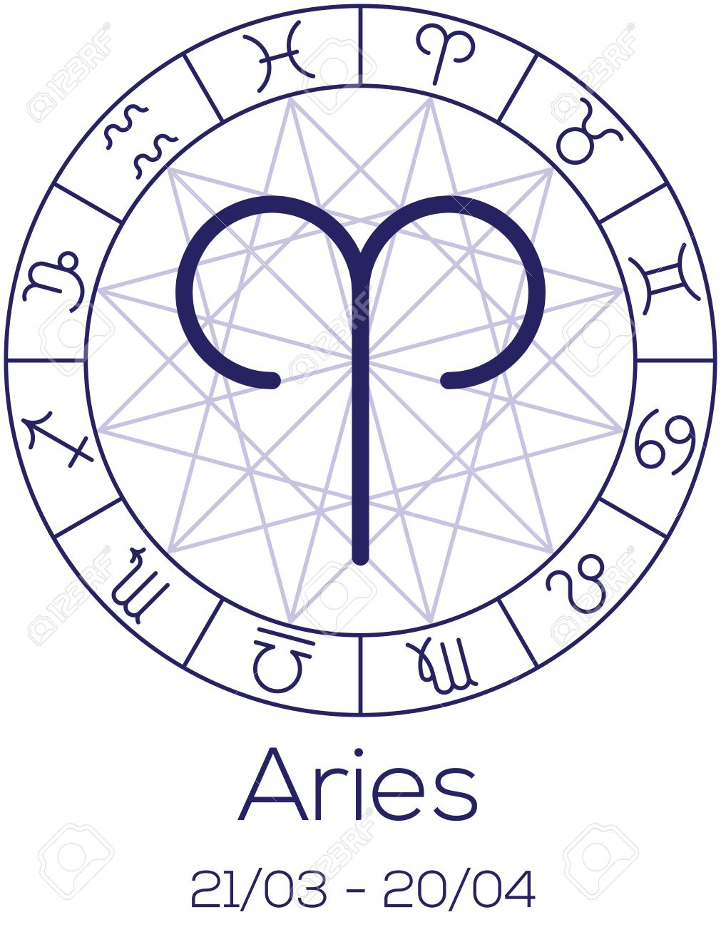 Zodiac sign aries astrological symbol in wheel with polygonal zodiac sign aries astrological symbol in wheel with polygonal background astrology chart in nvjuhfo Image collections