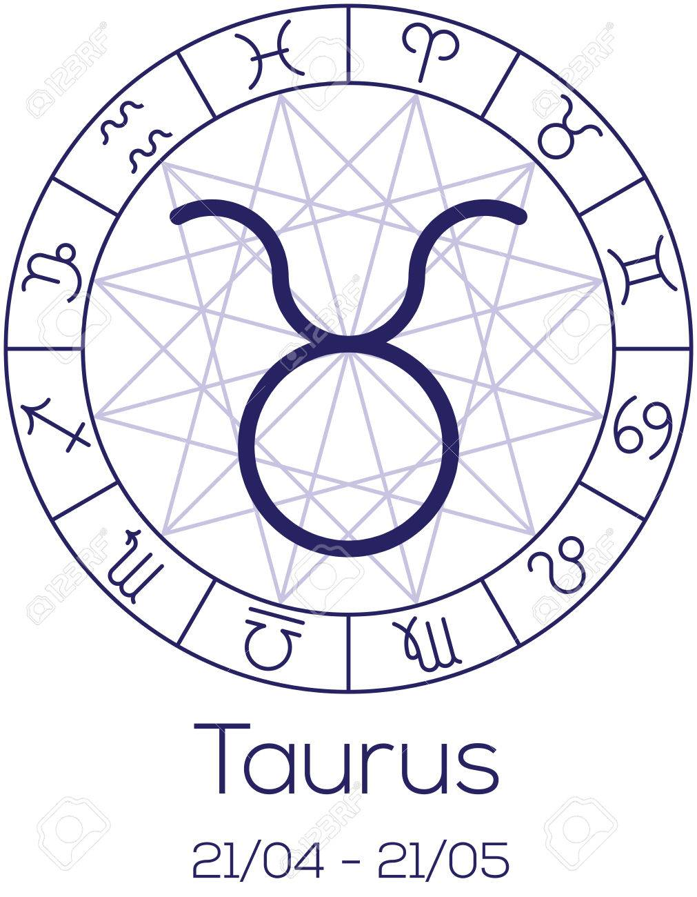 Zodiac sign taurus astrological symbol in wheel with polygonal zodiac sign taurus astrological symbol in wheel with polygonal background astrology chart in geenschuldenfo Gallery